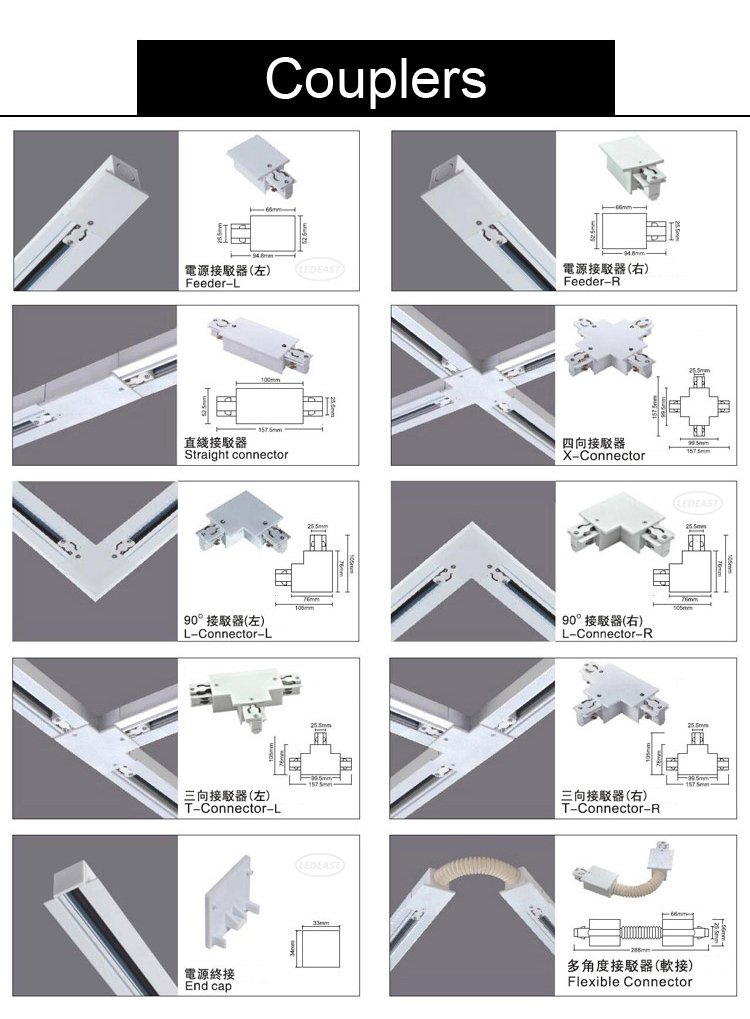 Linear Track Light Section